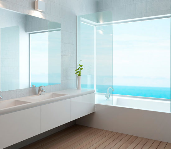 Badekarvegg - glassvegg til badekar