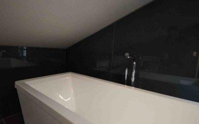 Glassvegg på bad