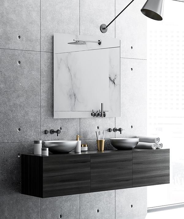 Speil på bad - Glassmester1