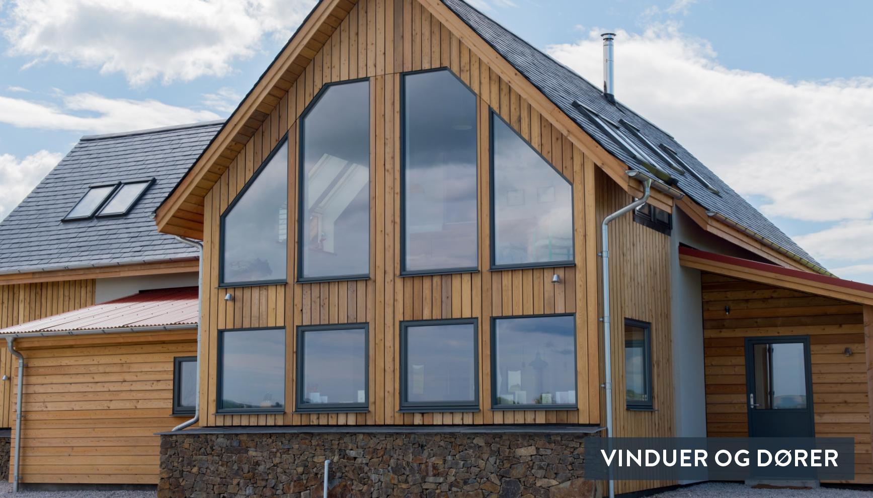 Bytt til nye vinduer og dører i samme stil som de gamle